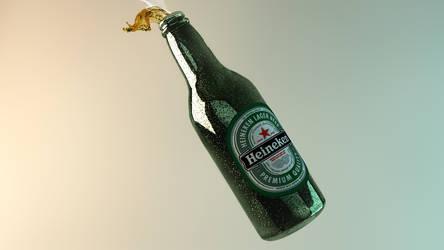 Heineken - Beer Bottle 3D by rasulh