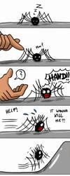 Spider and Hand by MiyaToriaka