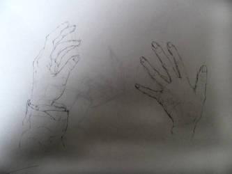 Hands life sketch by Noevember