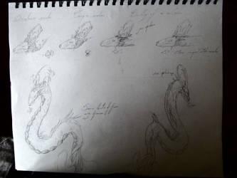 Chinese Dragon head antler body design by Noevember