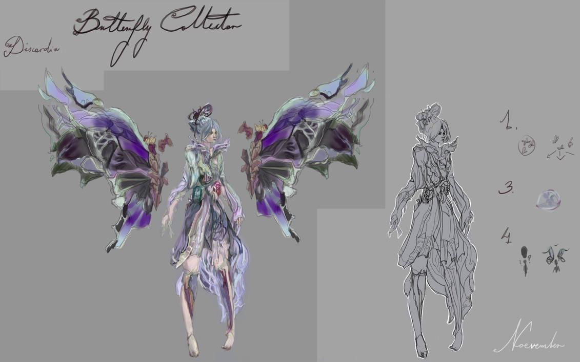 Butterfly Discordia, Smite Community skin 2019 by Noevember