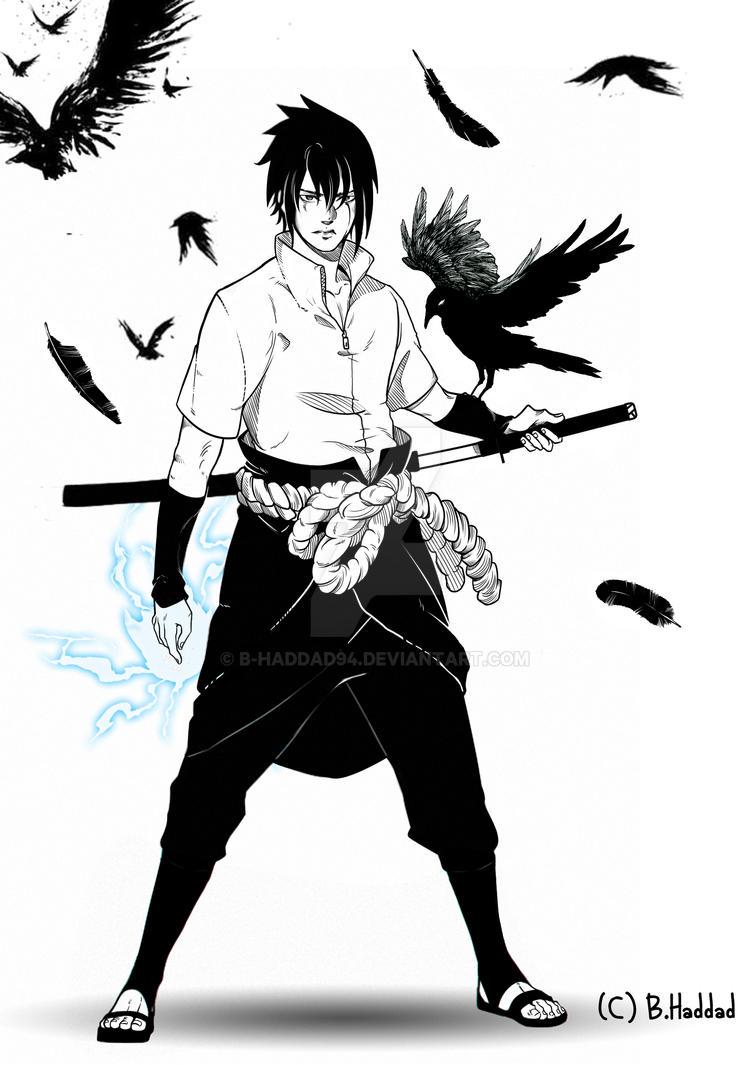 Sasuke Uchiha  fan art by B-haddad94