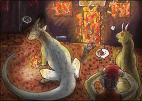 Don't burn it! - Cheesecake + Jesco (Kukuri) by KarasuShade