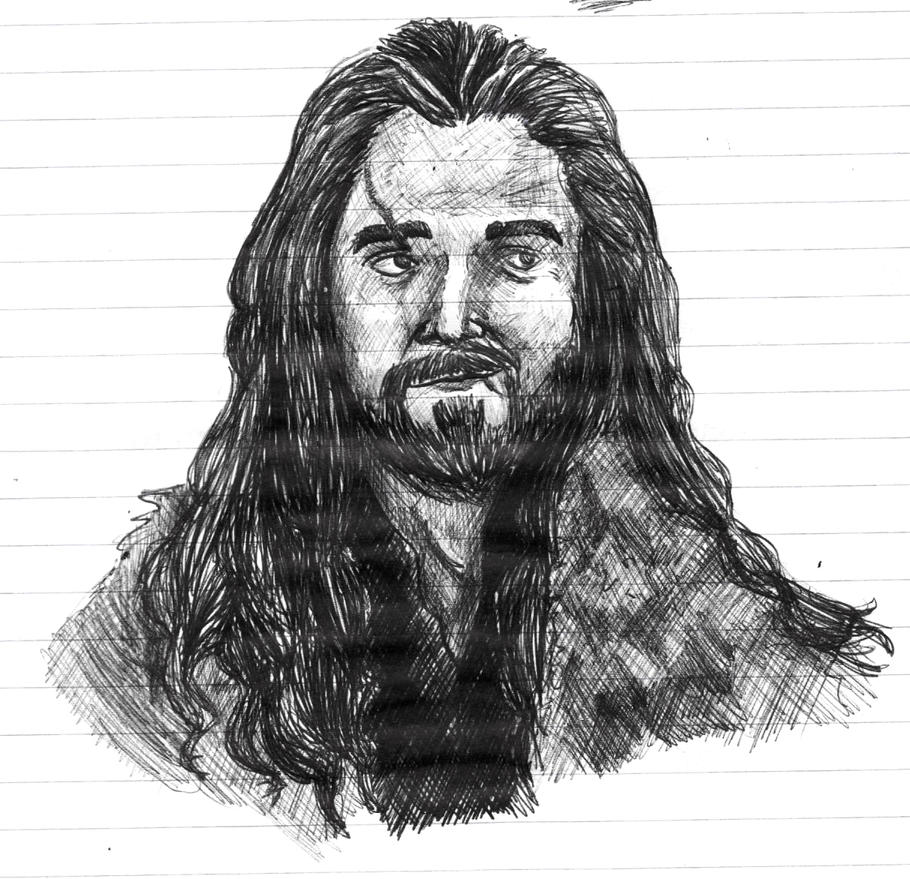 Thorin doodle during class by xRockAttitude