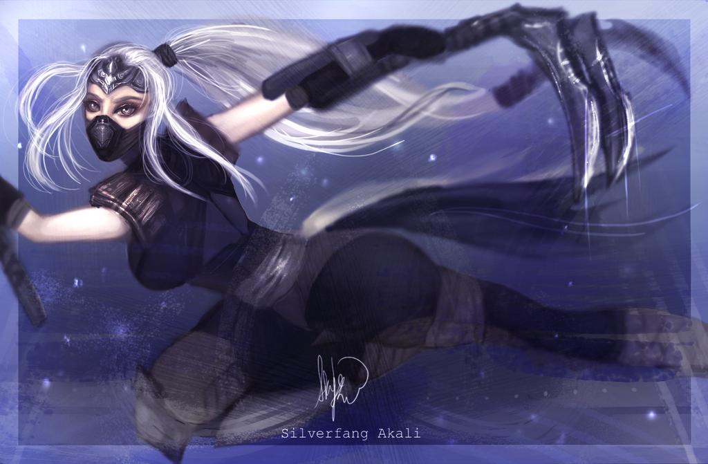 Wallpaper Silver Fang: Silverfang Akali By Skyesakura On DeviantArt
