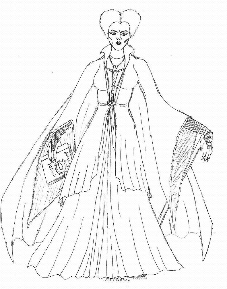 hocus pocus coloring pages - winnie sanderson hocus pocus by kerrydale on deviantart