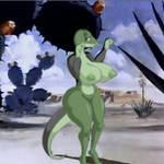 striptease on the desert
