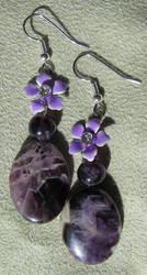 Purple Flower Earrings by VioletRosePetals