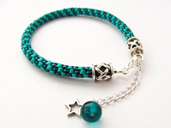 Turquoise Lanyard Bracelet by VioletRosePetals