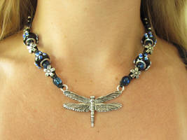 Blue Spring Dragonfly Necklace