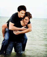 Harry + Cedric piggyback ride by KMeaghan