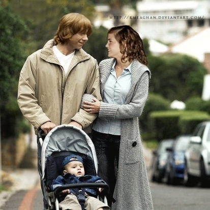 Ron, Hermione and baby... Rupert Grint Today