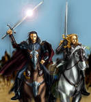 Aragorn and Eomer to battle