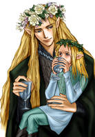 Legolas and Thranduil by idolwild