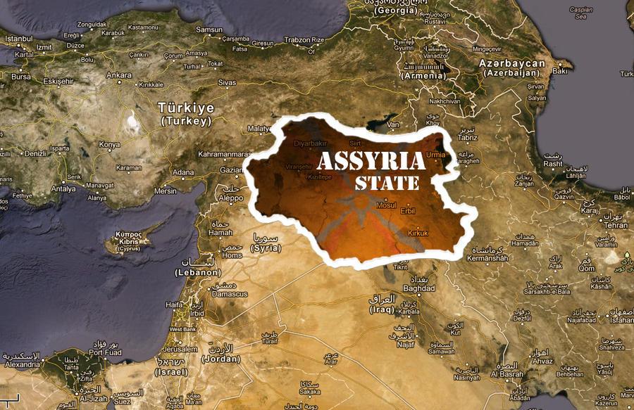 Assyria Modern Map by JOhnCena26 on DeviantArt