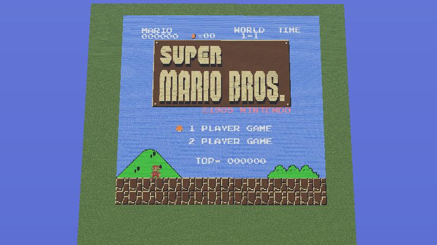 Super Mario Bros Title Screen Pixel Art By Maverickmettaur On