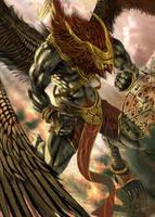 King of Garuda by Jessada-Art