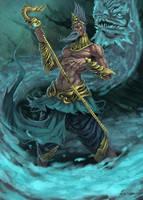 Naga Shaman by Jessada-Art