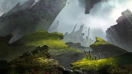 Mysterious Castle by Jessada-Art