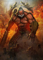 Flame God by Jessada-Art