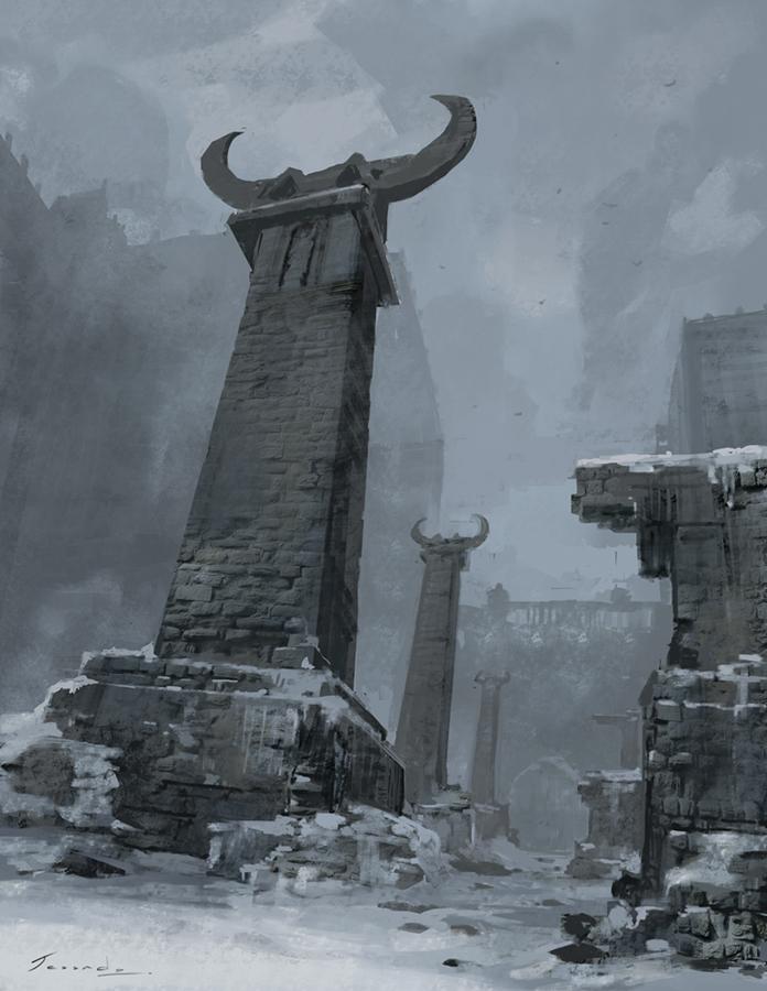 Ancient Place by Jessada-Art