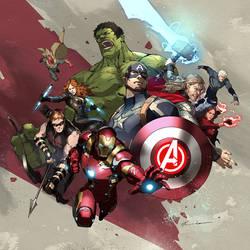 Avenger Art Wallpaper by Jessada-Art