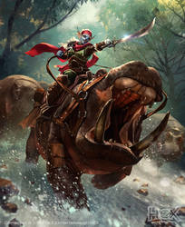 Ambershire War Rider by Jessada-Art