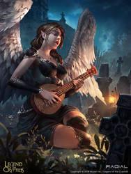 Mandolin Playing Dark Goddess_Reg