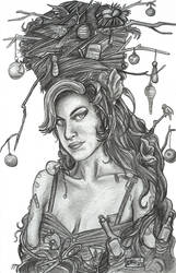 Amy Winehouse and her hair by Eliza-the-artist