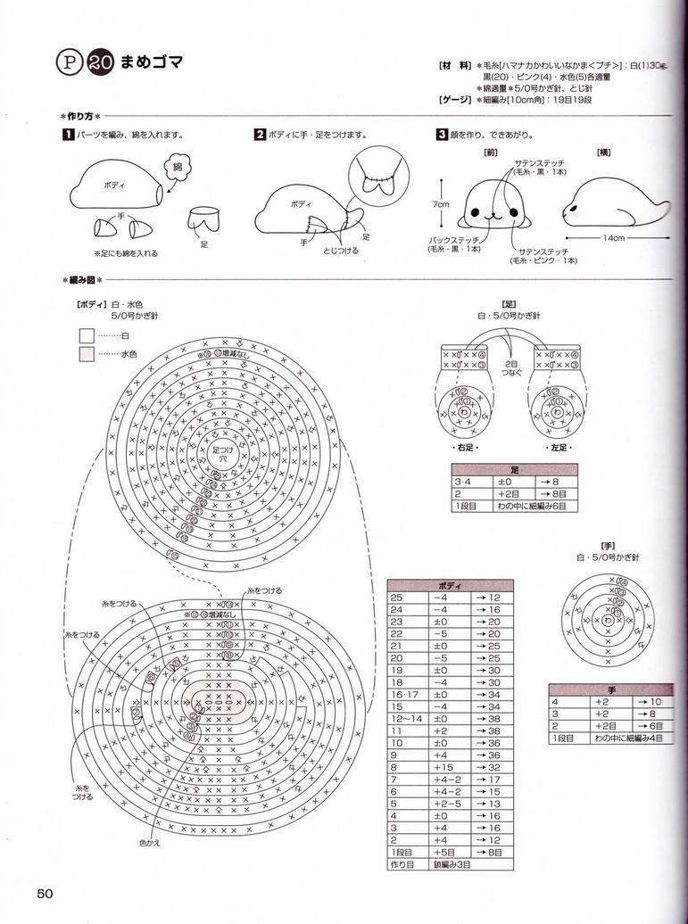 Cute Kawaii Amigurumi Patterns : Amigurumi Mamegoma tutorial by ihartplushies on DeviantArt