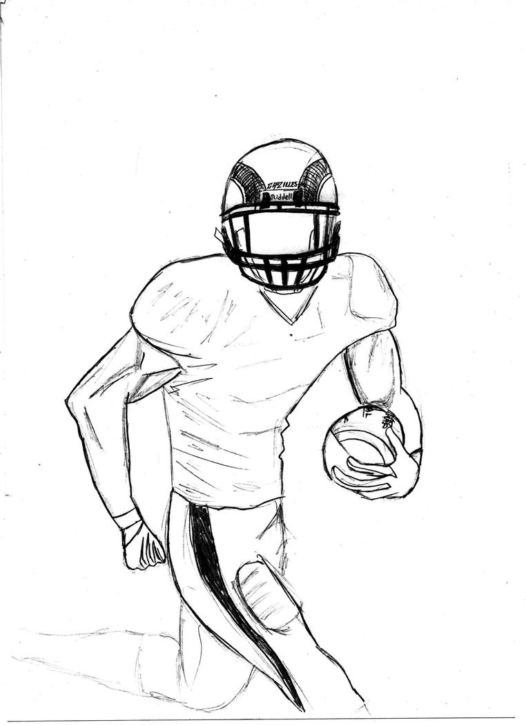 Football Player Sketch By NikeW On DeviantArt