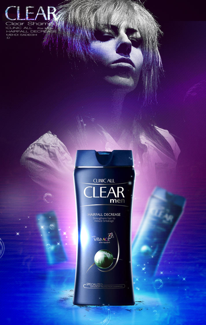 Clear Shampoo Logo Men By Mehdgraph