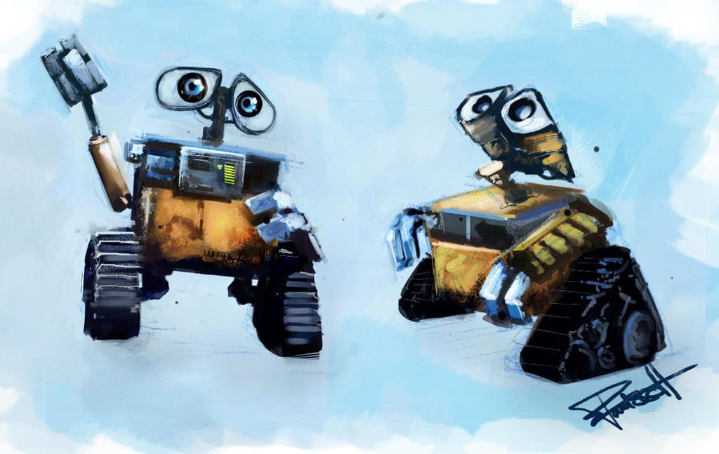 Wall-E Sketches by abigbat on DeviantArt