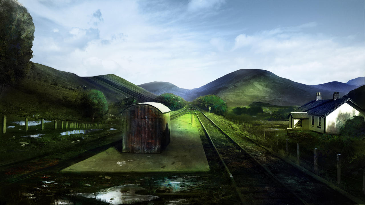 The Thirty Nine Steps - Moorland Station by abigbat