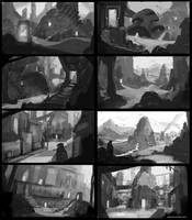 Passages - Composition Sketches by abigbat