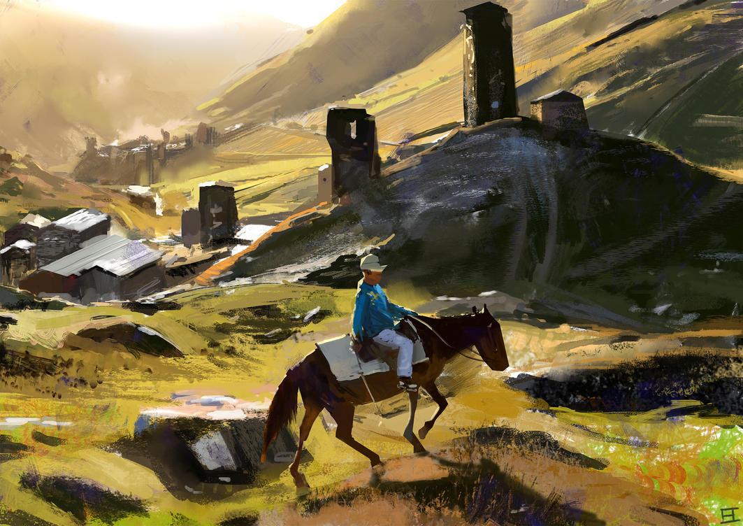 Svan Rider Study by abigbat