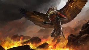 Blazing Griffin by abigbat