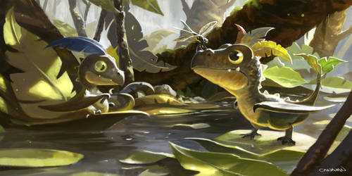 Hatchlings by abigbat