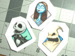 KH:CoM Nightmare Before Christmas Glossy Stickers