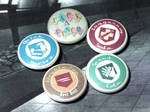 CoD Zombies Perk Pin-On Punk Buttons - Set of 5