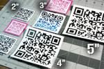 [Customizable] QR Code Glossy Sticker