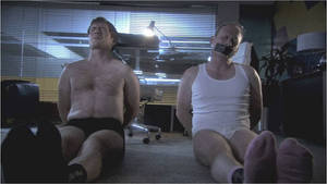 Office Men Stripped of Their Uniforms