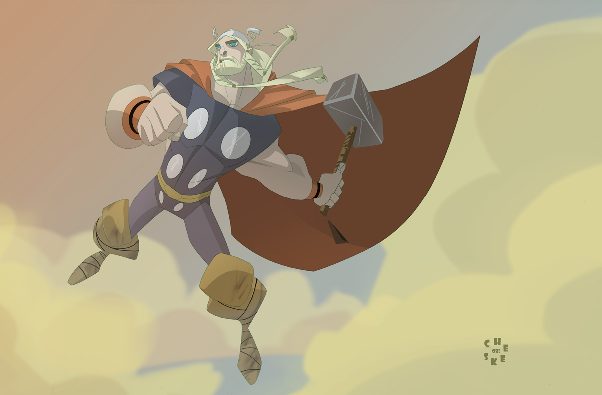 need some Bengay for dat thor? by cheeks-74