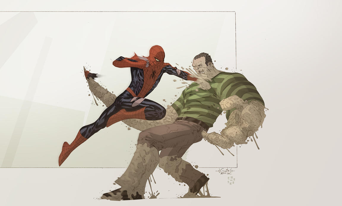 sandman spiderman comic - HD1288×776