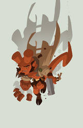 Abe Sapien's pal, Red by cheeks-74