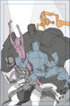 Mecha Nation cover roughs