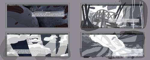 B7 webcomic panels 1-4