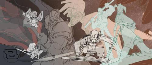 Bastion's 7 cova no.1 roughs by cheeks-74