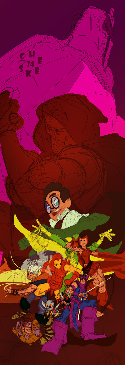 Mighty Avengers W.I.P. no.3 by cheeks-74