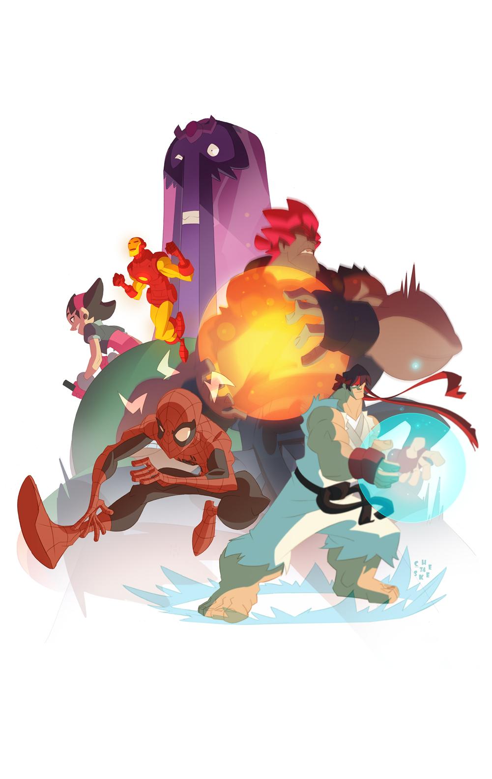 Marvel vs Capcom! by cheeks-74
